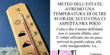 meteo dell'estate